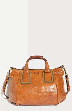 Chloé 'Ethel' Lambskin & Goatskin Leather Top Handle Satchel... current dream bag. Thinking of eBaying the Tory Burch and going for it!