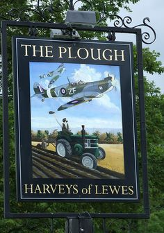 2009-06-20 Plumpton Green The Plough pub sign | Flickr - Photo Sharing!