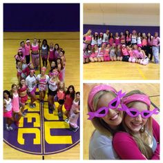 The #LSU Tiger Girls held a pink practice in support of breast cancer awareness month.