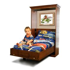 Great Idea for kids with tiny bedrooms, give them more space to play,by tucking their beds away!