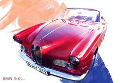 BMW 503 classic 1955 by TonyWcK.deviantart.com on @deviantART