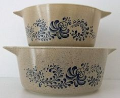 2 Pyrex casserole dishes - My Mom had these when I was a kid!!