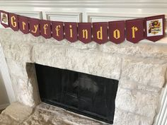 Gryffindor inspired banner Harry Potter by NineStarStudios on Etsy