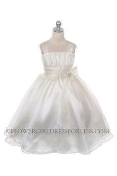 MB_286IV_SALE - Flower Girl Dress Style 286 - SALE Ivory size 4 (1 piece available) - Size 4 - Flower Girl Dress For Less