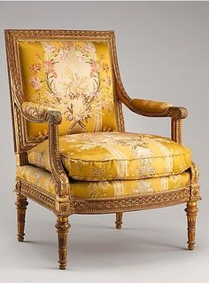 Armchair from Louis XVI's Salon des Jeux. Georges Jacob, 1788.
