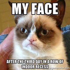 #teacherproblems ugh...indoor recess