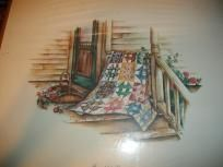 Quilting Themed print by Paula Vaughan