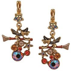 Witches Brew Leverback Earrings (Goldtone): Kirks Folly Online Web Store