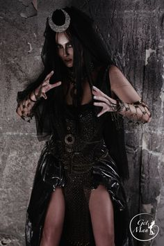 Enchantress Cosplay Costume is perfect for Halloween party 2016! Realistic costume will turn you into a real enchantress.  The Costume includes:  - Moon Diadem - Necklace - Central element with pendants - Chain Forearms Bracelets (2pcs) - Wrist Bracelets (2pcs) - Chain Belt  Made of: -Moon Diadem is lightweight and attaches to the hair with pins (included and attached to it already); -Necklace made of wood beads and polymer plastic and covered with acrylic paint; -Central element of the…