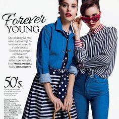 O Jeans na Glamour veio com a beleza de Diego Américo em dose dupla com a gêmeas