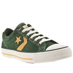 look like they're supposed to be more for guys but I'd wear 'em Dark Green Converse, Converse Star Player, Shoe Shop, Kid Shoes, What To Wear, Trainers, Footwear, Man Shop, Guys