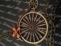 Antique BrassPenny Farthing Old Fashioned Big by DelightAndRage, $18.00