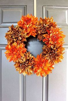easy fall wreath in 5 minutes, crafts, seasonal holiday decor, wreaths                                                                                                                                                     More