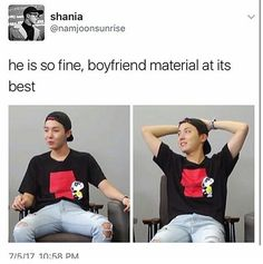 Definition of boyfriend material