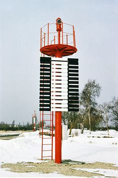 Roomassaare harbour front light beacon, Estonia