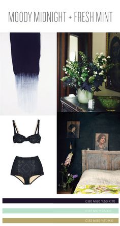 I love the midnight blue, and how it's almost black until you see it against the green. Wow. katearends.com