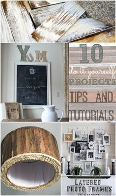 10 DIY Projects Tips & Tutorials. Love the photo collage idea.