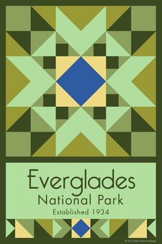 Everglades National Park Quilt Block designed by Susan Davis. Susan is the owner…