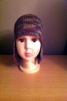 Hand Knitted Childrens Helmet - 3 - 5 Years - Red / Blue / Green / Brown Mix on Etsy, £15.99