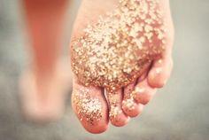 glitter footprints...Lauren