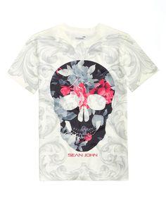 3b5f344dd Sean John Dark Floral Graphic-Print T-Shirt, Big Boys & Reviews - Shirts &  Tees - Kids - Macy's