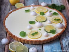 Smetanovo-citronový koláč (cream - lemon pie)