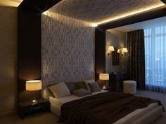 Bedroom from Houzz.  This surely belongs in a hotel, somewhere.