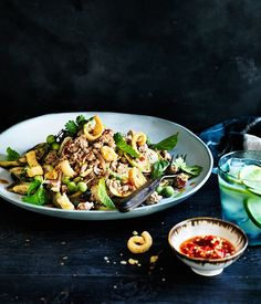 Pork and eggplant salad with salted chilli recipe :: Gourmet Traveller