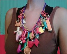 Plastic Charm Necklace.  Is it odd that I want one again?
