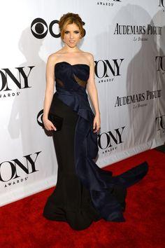 Fabulously Spotted: Anna Kendrick Wearing Donna Karan Atelier - 2013 Tony Awards - http://www.becauseiamfabulous.com/2013/06/anna-kendrick-wearing-donna-karan-atelier-2013-tony-awards/
