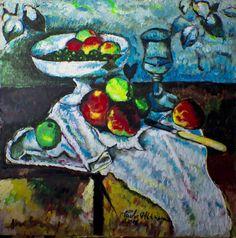 Mia interpretazione di Cezanne. My way to see and painting Cezanne.