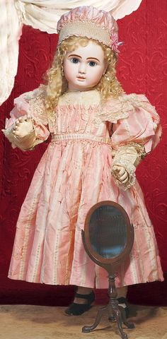 "MAGNIFICENT LARGE ""FIGURE A"" BISQUE BEBE BY STEINE : Lot 180"