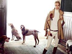 Massimo Dutti F/W 13 Equestrian Collection Carolyn Murphy - Model