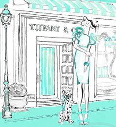 Kerrie Hess Illustrstion for Tiffany  Co.