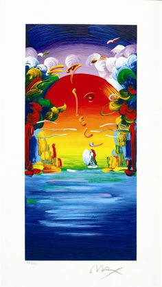 """Better World"" by Peter Max I love this piece of work. I wish I could own it."