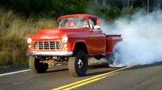 Video: Cummins Diesel-Powered '55 Chevy 4×4 Burnout Porn - RodAuthority.com