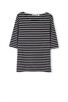 Women plus size loose strip t shirt half sleeve O-neck shirt camisas femininas vintage basic casual cozy wear tops Shirt Outfit, T Shirt, Half Sleeves, Capsule Wardrobe, Chambray, Blue Denim, Women Wear, Plus Size, Casual