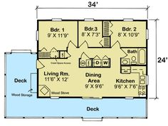 3 Bedroom Vacation Cottage - 11390G | Cottage, Mountain, Vacation, Narrow Lot, 1st Floor Master Suite, PDF | Architectural Designs