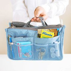 8e5fdab852 Women Travel Insert Handbag Nylon Large Liner Organizer Tidy Bag Cosmetic  Bag Travel Toiletries