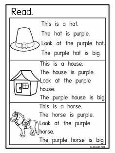 Thid is a house Phonics Reading, Teaching Phonics, Phonics Activities, Kindergarten Reading, Kids Reading, Reading Skills, Teaching Reading, Preschool Phonics, Early Reading