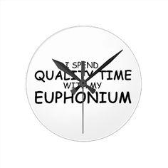 Quality Time Euphonium Clock