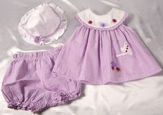 Baby Girl Little Bitty 3 PC Gingham Dress Set Size 6-9 Months #LittleBitty #EasterDressyEverydayHoliday