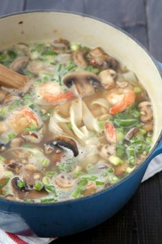 Mushroom Shrimp Noodle Soup with Egg | thekitchenpaper.com