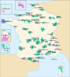 Bivouac, camping  - Carte des Parcs Nationaux Français