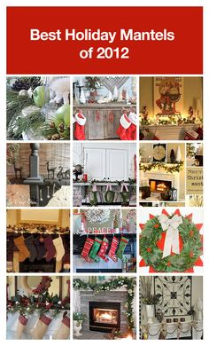 Best Holiday mantels of 2012!