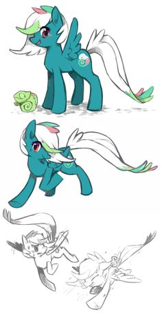 Chameleon Pony by Mi-eau.deviantart.com on @DeviantArt
