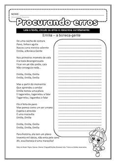 Ortografia - trabalhando texto EM PDF | Atividades Pedagogica Suzano Punctuation Posters, Teacher Prayer, Number Puzzles, Teacher Memes, Teachers' Day, School Themes, Primary School, Back To School, Teaching
