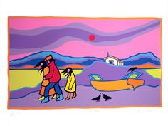 Artist Proof or Hors de Commerce. Signed and dated by Ted Harrison. Native Art, Native American Art, Ted, Grade 1 Art, Winter Art Projects, Shape Art, Art Activities, Elementary Art, Teaching Art