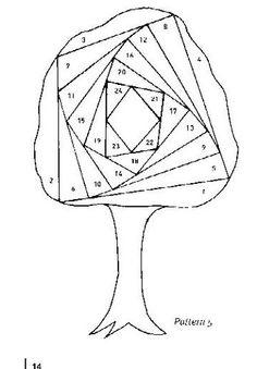 Iris folding -By Mamie. Iris Folding Templates, Iris Paper Folding, Iris Folding Pattern, Paper Piecing Patterns, Card Patterns, Paper Cards, Folded Cards, Patchwork Cards, Iris Painting