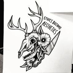 Ethics Become Aesthetics Tattoo Design by Phoenix Mendoza